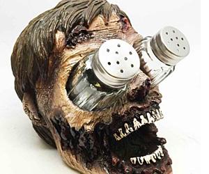 Zombie Head Salt Pepper Shakers